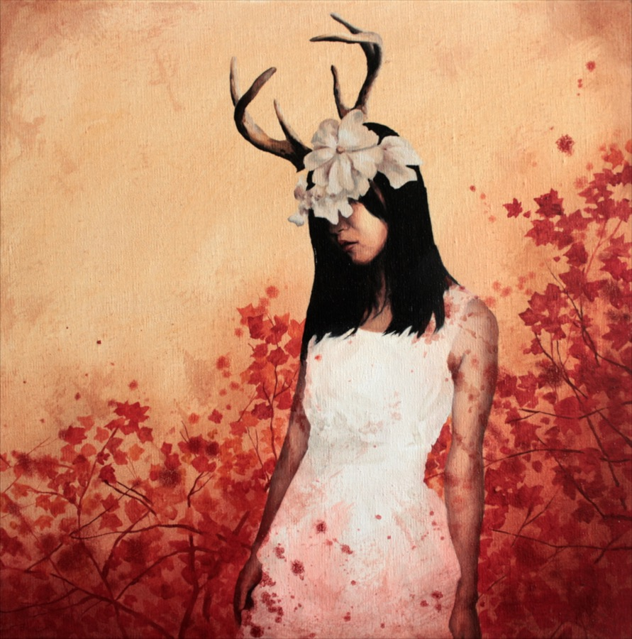 girl-with-deer-horns-blood-splatters-and-red-flowers